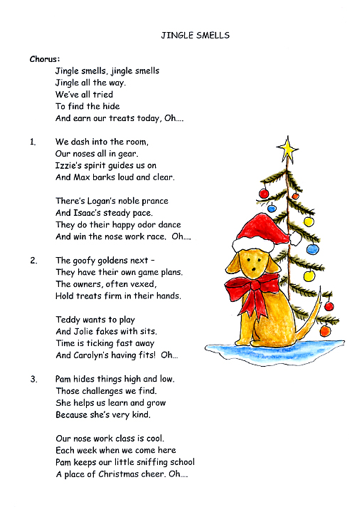 Jingle Smells card